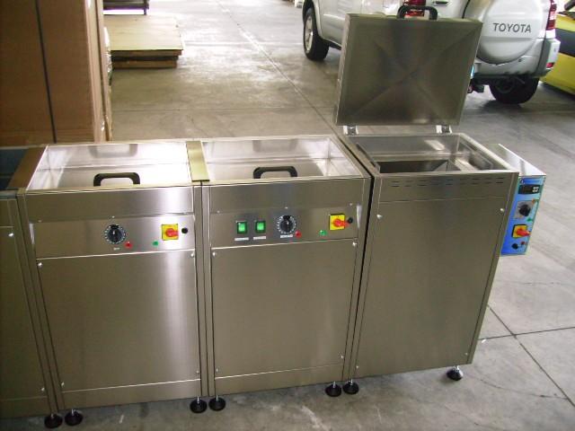 impianto di lavaggio con forno ad aria ventilata calda